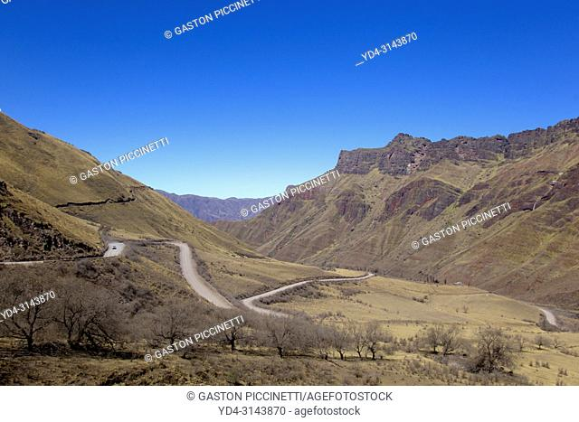 Cuesta del Obispo, Route 33, Calchaqui Valleys, Salta, North West, Argentina. This route go to Cachi crossing the Cardones National Park