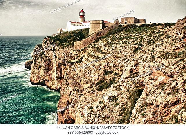 Saint Vincent Cape and lighthouse, Sagres, Algarve, Portugal