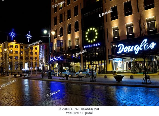 Novotel hotel in Xmas night
