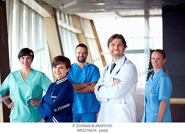 doctors team walking