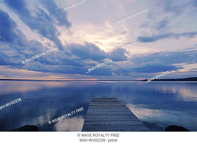 Public dock Clear Lake, Canada, Manitoba, Riding Mountain National Park