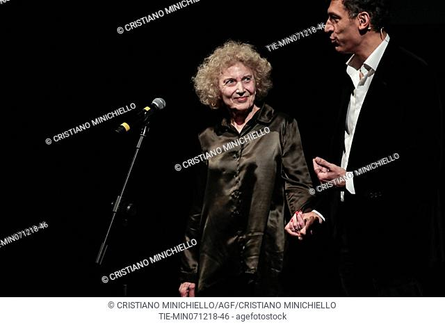 Marisa Paredes attends at the evening in memory of Bernardo Bertolucci at the Argentina Theatre in Rome, ITALY-06-12-2018