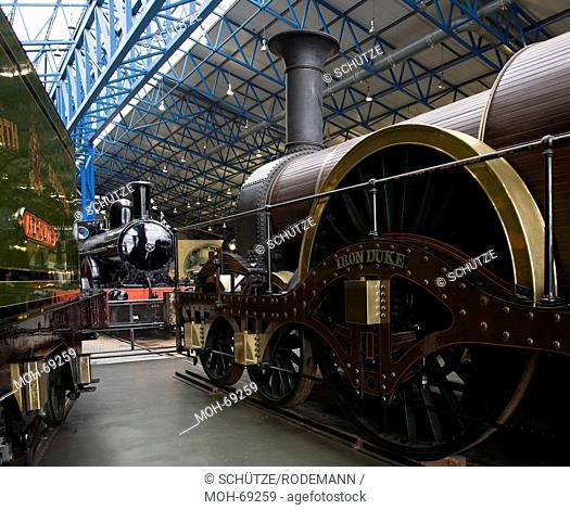 York National Railway Museum. Breitspurlok Iron Duke. Das National Railway Museum NRM in York ist Teil des britischen National Museum of Science and Industry...