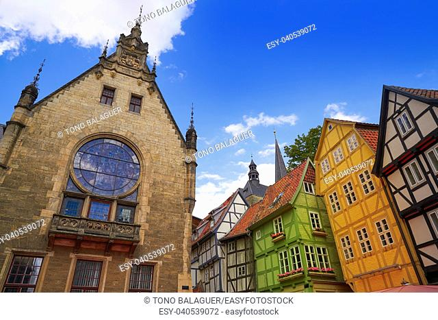 church Quedlinburg facade in Harz Saxony Anhalt Germany