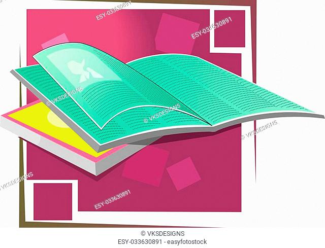 Two books in a colour background