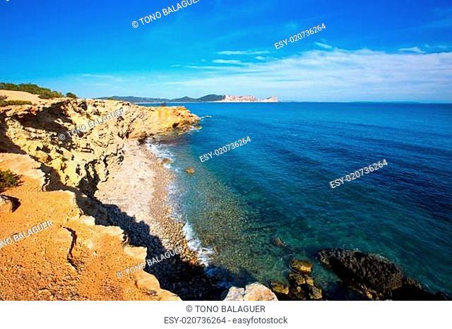 Ibiza Sa Caleta beach in south San Jose at Balearic
