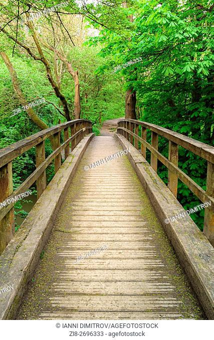 Footbridge over river Mole,Boxhill,Surrey,England