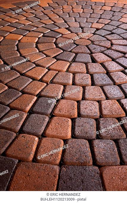 Detail shot of a brick ground; Laguna Niguel; California; USA