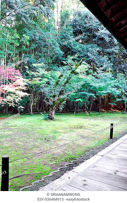 Japanese garden in the Koto-in a sub-temple of Daitoku-ji - Kyoto, Japan