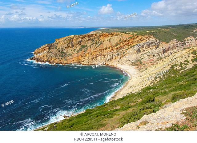 Espichel Cape, Cabo Espichel, Cliffs, Sesimbra, Setubal district, Portugal