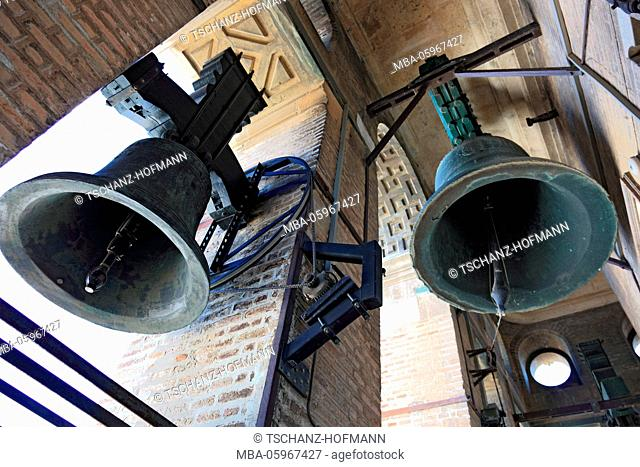 Spain, Andalusia, old town of Seville, bells in the tower of the cathedral