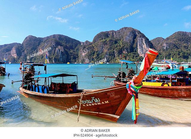 Thailand Krabi Phi Phi Islands Koh Phi Phi Don Ao Tonsai