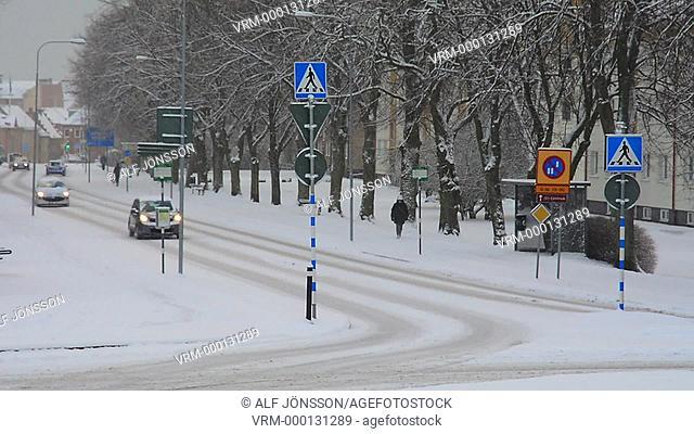 Traffic on winterroad