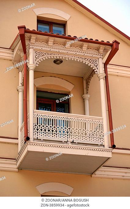 Traditional carving balconies of Tbilisi, Kalaubani area