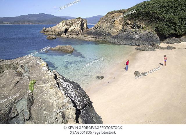 Santa Cristina Beach, Espasante, Galicia, Spain