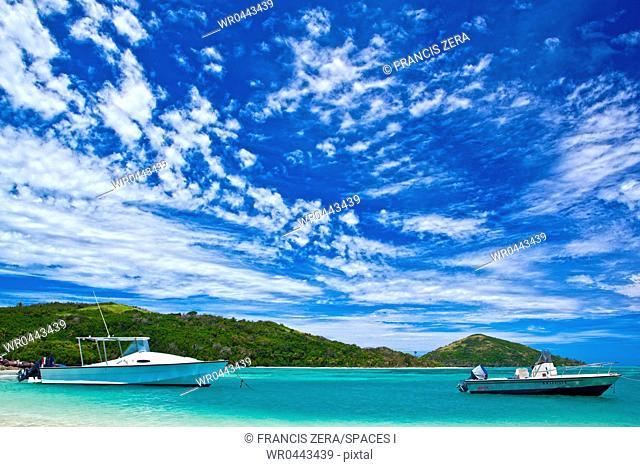 Boats at a Tropical Beach