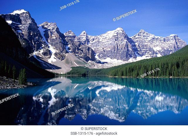 Moraine Lake and Valley of Ten Peaks Banff National Park Alberta, Canada