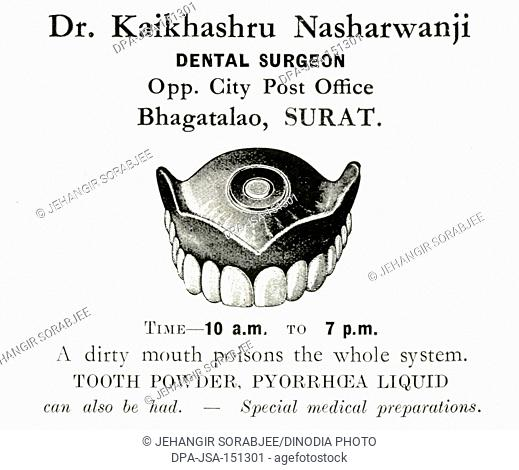 Advertisement , Parsi Lustre BK , Dr. Kaikhashru Nasharwanji