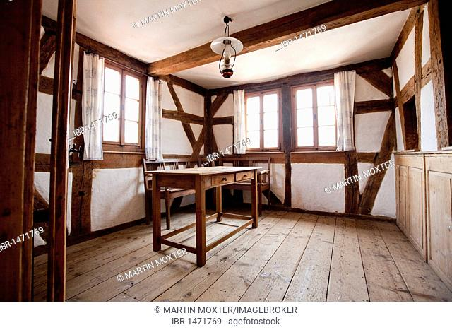 Interior, Bayersturm city tower, named after the warder family Bayer, Lohr am Main, Hesse, Germany, Europe