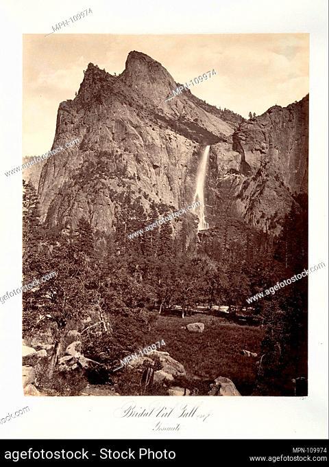 Bridal Veil Fall, 940 feet, Yosemite. Artist: Attributed to Carleton E. Watkins (American, 1829-1916); Date: ca. 1872, printed ca