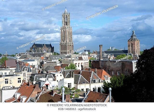 Cathedral, city landscape, Utrecht, Netherlands