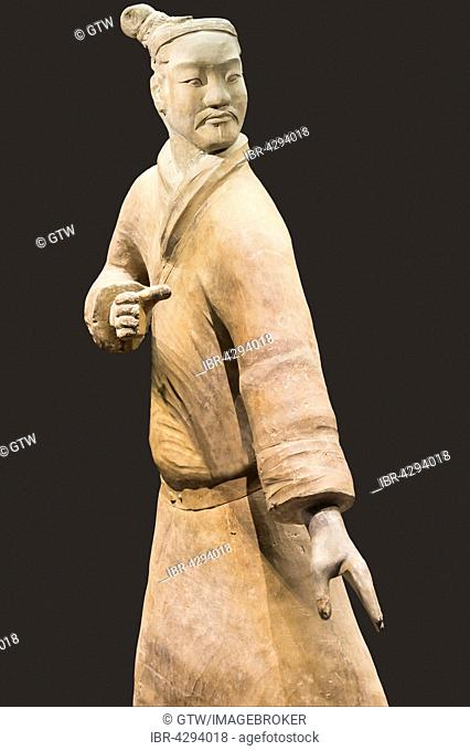Museum of the Terracotta Warriors, Standing Archer, Mausoleum of the first Qin Emperor, Xian, Shaanxi Province, China