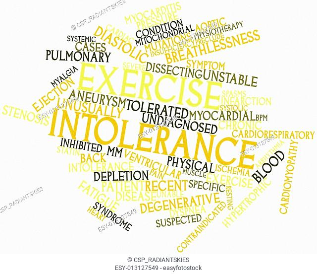 Word cloud for Exercise intolerance