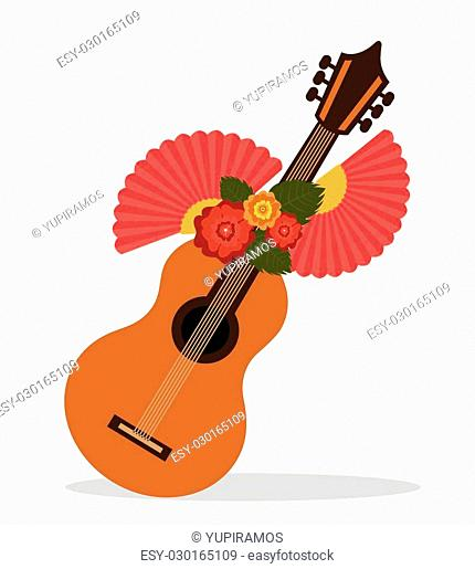 Flamenco culture icons design, vector illustration graphic