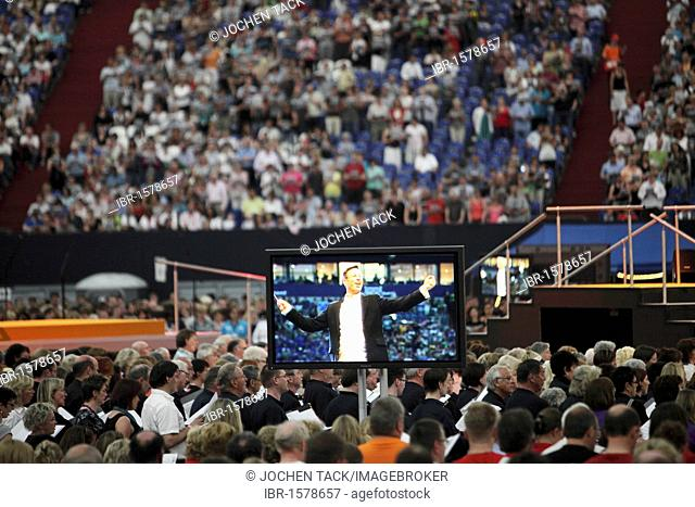 Steven Sloan, conductor and artistic director of the Ruhr2010, !Sing-Day of Song, concert as the finale with over 65, 000 people as part of the Capital of...