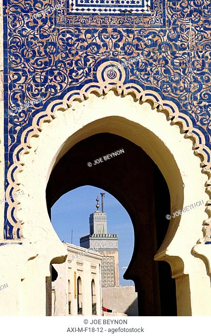Bab Bou Jeloud and mosque, Old Fes