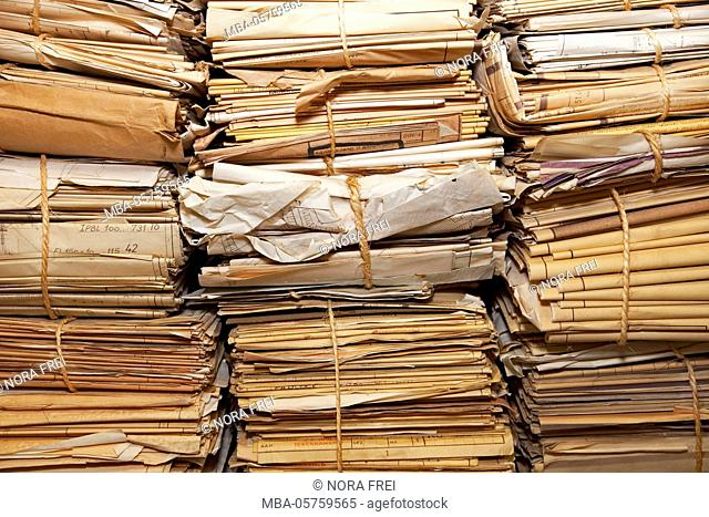 Documents, old, stack, plans