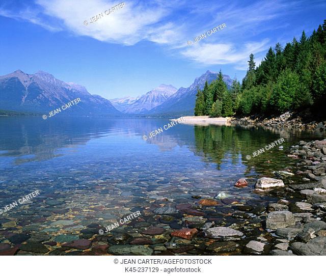 Lake McDonald. Glacier National Park. Montana. USA