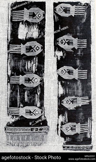 Panel Fragments. Date: 10th-15th century; Geography: Peru; Culture: Peru; central coast (?); Medium: Cotton, camelid hair; Dimensions: Overall: 21 3/8 x 46 1/2...