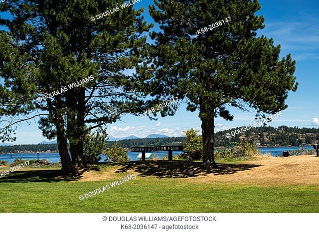 Robert V. Ostler Park in Campbell River, BC, Canada
