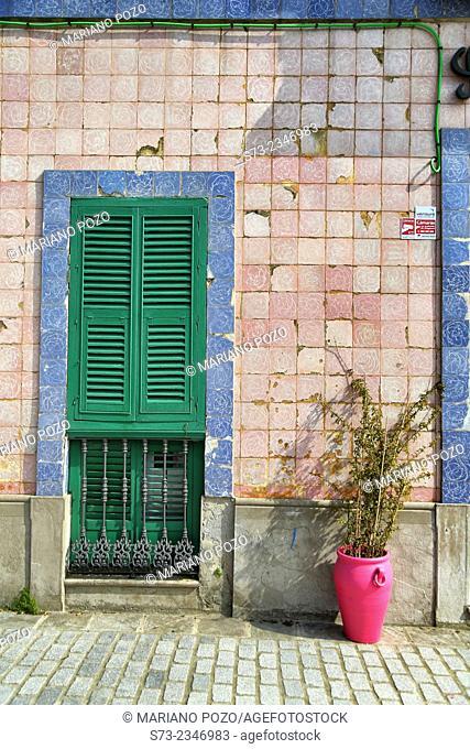 House front in Tarifa, Cadiz, Andalusia, Spain
