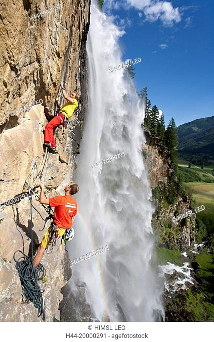 Free climbing in Maltatal valley, Carinthia