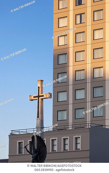 New Zealand, South Island, Christchurch, Cathedral Square, cross