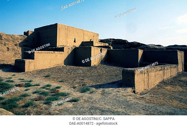 Ruins in the State historical and cultural park ancient Merv (Unesco World Heritage List, 1999), Mary Province, Turkmenistan