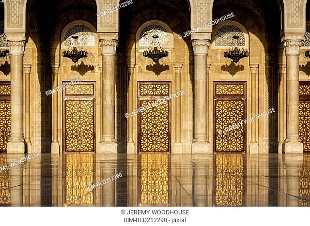 Ornate doorway to Al Saleh Mosque, Sanaa, Yemen