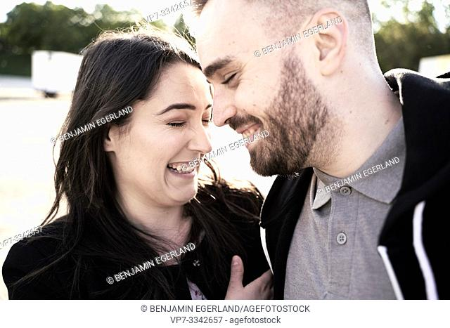 happy couple, in Munich, Germany