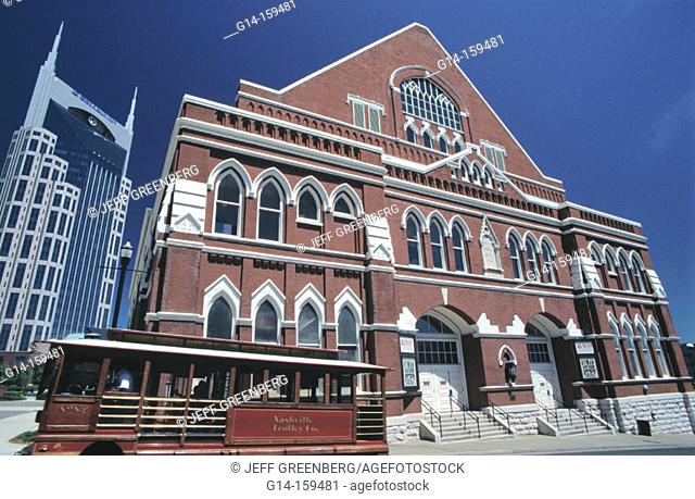 Ryman Auditorium, home of the Grand Ole Opry (1943-1974). Nashville. Tennessee. USA