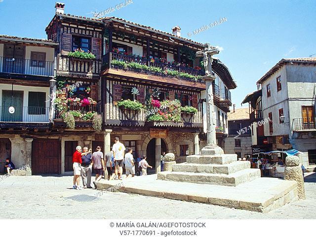 Main Square. La Alberca, Salamanca province, Castilla Leon, Spain