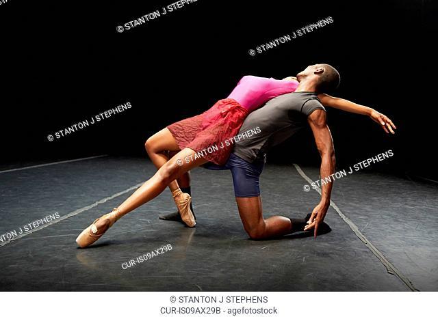 Ballet dancers in practice