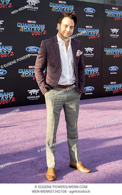 "Marvel Studios """"Guardians of the Galaxy Vol. 2"""" Premiere in Los Angeles Featuring: Jonathan Sadowski Where: Hollywood, California"