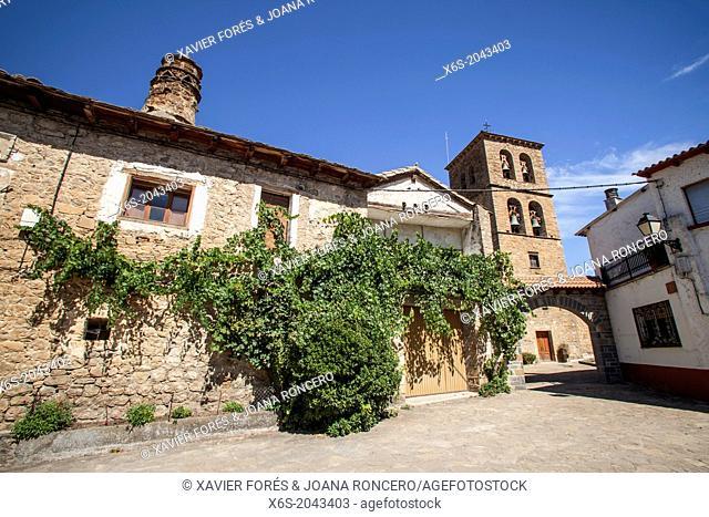 Santa Cilia village in St. James way, Huesca, Spain