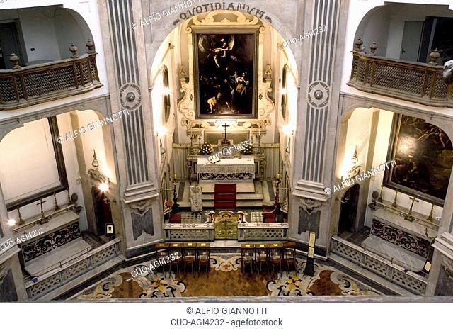 Pio Monte della Misericordia church seen from Coretto of Quadreria, Naples, Campania, Italy