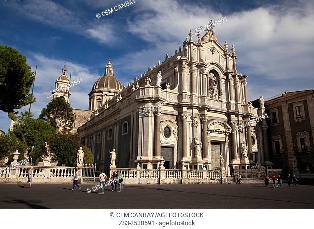 Saint Agata Cathedral at Piazza del Duomo, Catania, Sicily, Italy, Europe