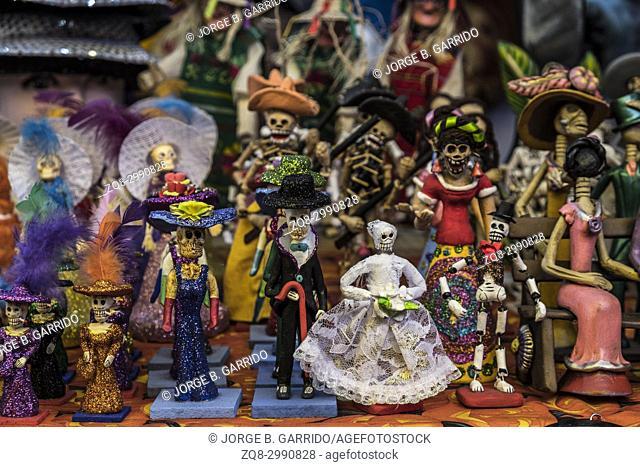 Calaveras, Dia de Los Muertos, mercado San Angel. Mexico City