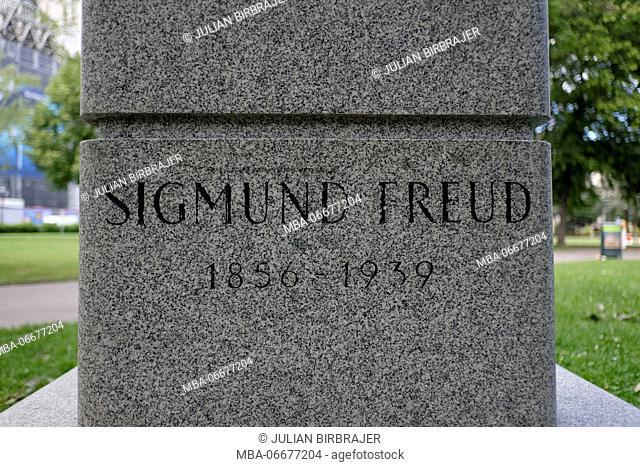 Europe, Austria, Vienna, capital, Sigmund Freud menproal, detail