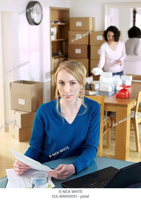 Women running business from home